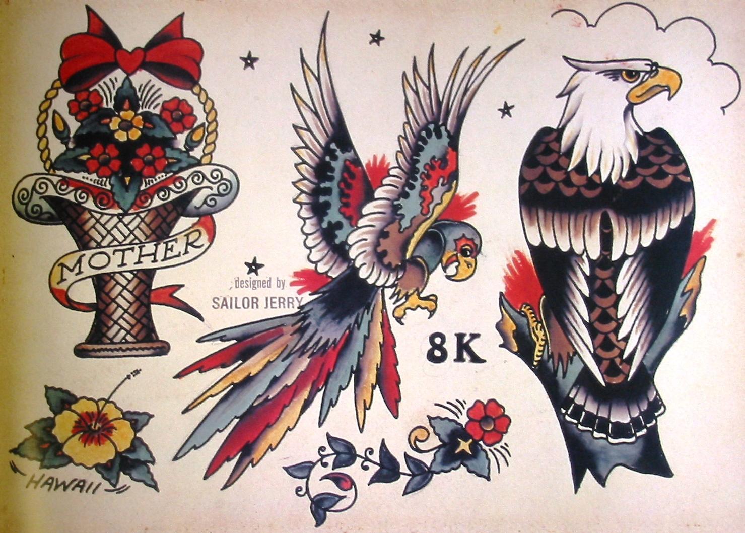Эскизы тату орел ТриТатушки