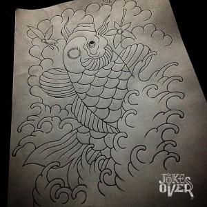 Эскиз японской татуировки