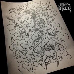 Эскиз тату в японском стиле