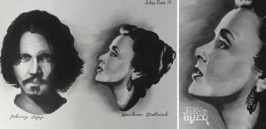Тату черно-белое портерт  Портретная татуировка2 3 300x146